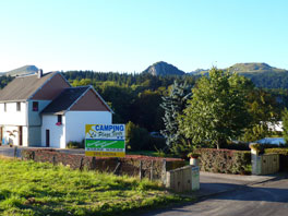 Entrance of the La Plage Verte campsite in Mont Dore